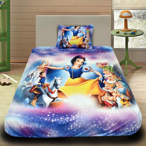 3D луксозен детски спален комплект Snow White