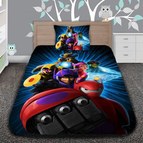 3D луксозен детски спален комплект Big Hero
