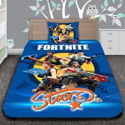 3D луксозен детски спален комплект Fortnite Stars