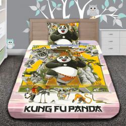 3D луксозен детски спален комплект KUNG FU PANDA