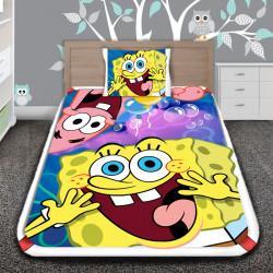 3D луксозен детски спален комплект Smiley of Spongebob