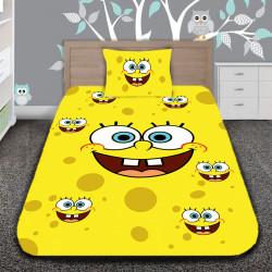 3D луксозен детски спален комплект Sponge Bob The Cheerful Sponge