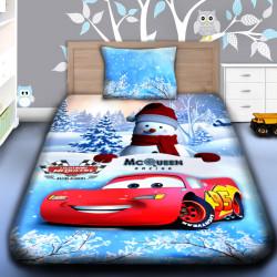 3D луксозен детски спален комплект MERRY CHRISTMAS MCQUEEN