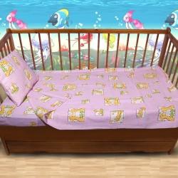 Комплект от спално бельо за бебе Жирафчета