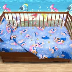 Комплект от спално бельо за бебе Мечо Пух
