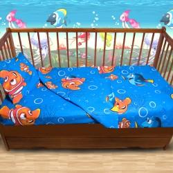 Комплект от спално бельо за бебе Рибката Немо