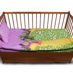 Комплект от спално бельо за бебе с Маша и Мечока