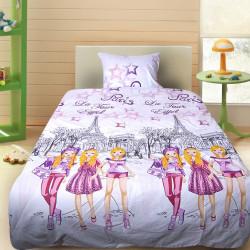 Комплект от детско луксозно спално бельо за момиче