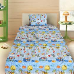 Комплект от детско луксозно спално бельо за момче Корабчета в синьо