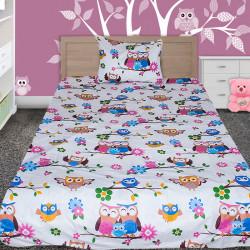 Комплект от детско луксозно спално бельо Sleepy owls