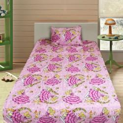 Комплект от детско луксозно спално бельо Барби и Бамби