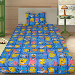 Комплект от детско луксозно спално бельо Спондж Боб 2