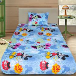 Комплект от детско луксозно спално бельо Minnie & Mickey blue