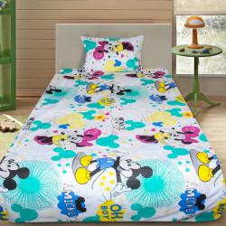 Комплект от детско луксозно спално бельо Minnie & Mickey white