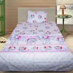 Комплект от детско луксозно спално бельо Catsy white