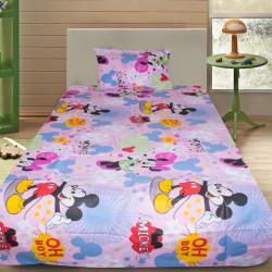 Комплект от детско луксозно спално бельо Minnie & Mickey