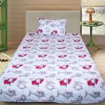 Детски спален комплект Делфините в червено