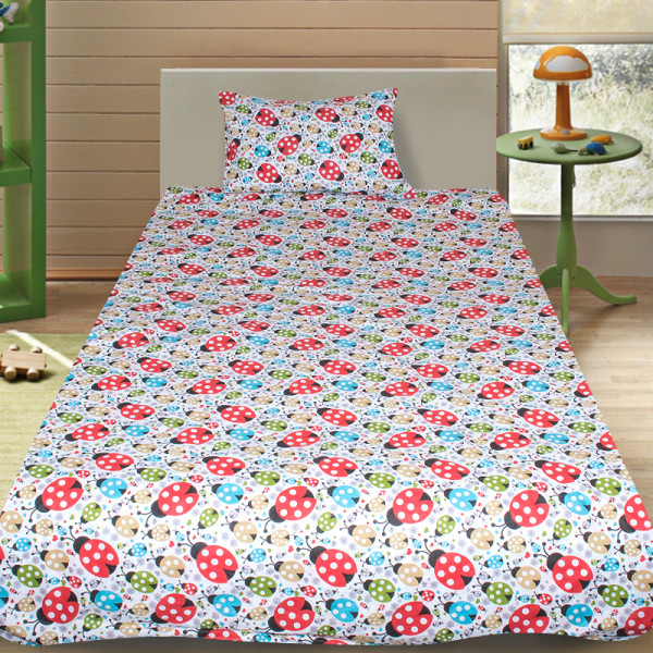 Комплект от детско луксозно спално бельо с Калинки