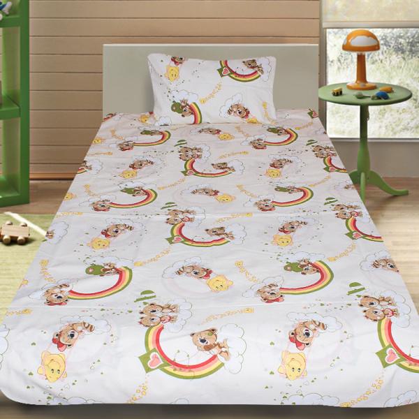 Комплект от детско луксозно спално бельо Teddy Bears в жълто