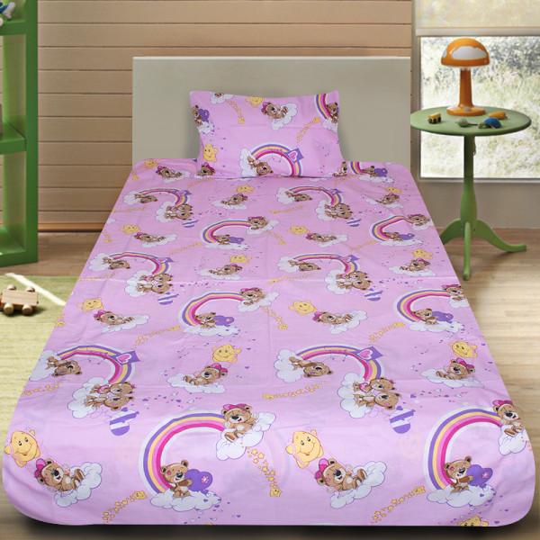 Комплект от детско луксозно спално бельо Teddy Bears в розово