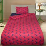 Комплект от детско луксозно спално бельо червени елени