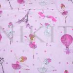 Комплект от детско луксозно спално бельо Балерина в розово