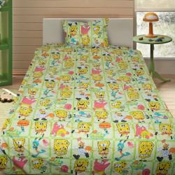 Комплект от детско луксозно спално бельо Спондж Боб