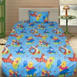 Комплект от детско луксозно спално бельо Мечо пух и приятели