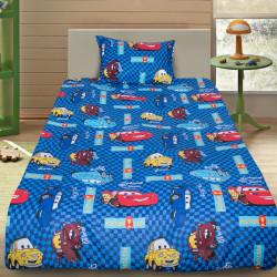 Комплект от детско луксозно спално бельо Коли