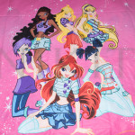 Комплект от детско луксозно спално бельо розов Winx