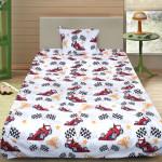 Комплект от детско луксозно спално бельо White Formula 1