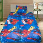 Комплект от детско луксозно спално бельо Spiderman blue