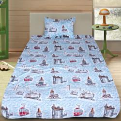 Комплект от детско луксозно спално бельо Tourism blue