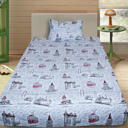 Комплект от детско луксозно спално бельо Tourism gray