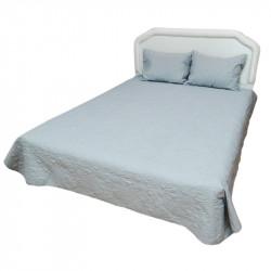 Луксозна двулицева кувертюра за спалня с подарък 2 броя калъфки в цвят сив
