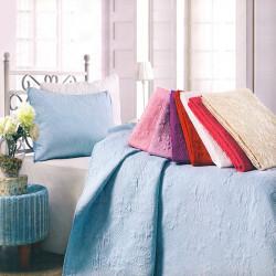 Луксозна двулицева кувертюра за спалня с подарък 2 броя калъфки в цвят черен