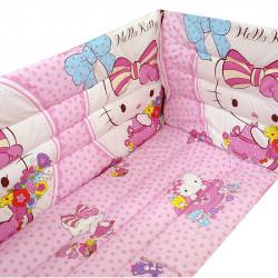 Обиколници за бебешка кошара Hello Kitty