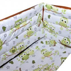 Обиколници за бебешка кошара Owls Green