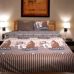 Комплект от луксозно спално бельо BigBen в кафяво