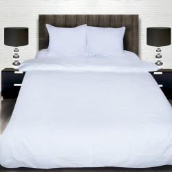 Комплект от луксозно спално бельо от памучен сатен в бяло