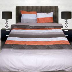 Комплект от луксозно спално бельо  с пеперуди в розово