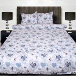Комплект от луксозно спално бельо White-blue hearts