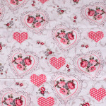Комплект от луксозно спално бельо White-Pink hearts
