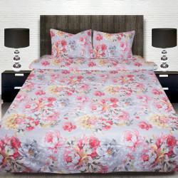 Комплект от луксозно спално бельо с голяма щампа на Коломби