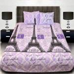 Комплект от луксозно спално бельо с голяма щампа на Айфелова кула 1