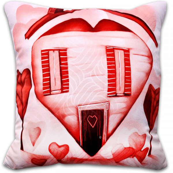Пухкава декоративна възглавница ''Hоме Valentines Day''