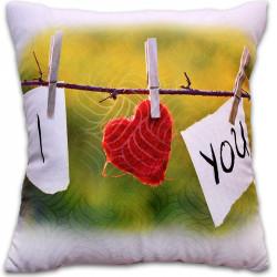 Пухкава декоративна възглавница ''I Love you Valentines Day''