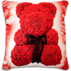 Пухкава декоративна възглавница ''Bear Valentines Day''