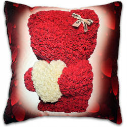 Пухкава декоративна възглавница ''Heart Bear Valentines Day''