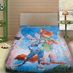 3D Одеяло за детско легло от мик бръш ''Зоотрополис''